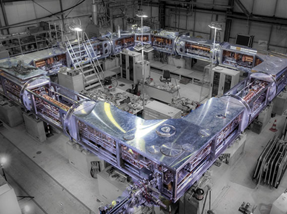 View onto the CSR just before its commissioning at cryogenic temperatures in April 2015