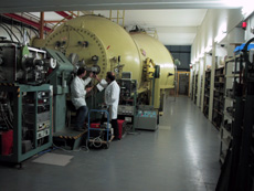 The 12 MV-tandem accelerator has a history of 45 years of successful operation