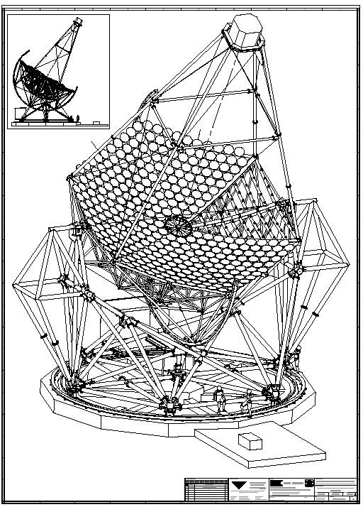 diagram of a radio telescope