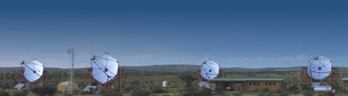 High Energy Stereoscopic System telescopes in Namibia